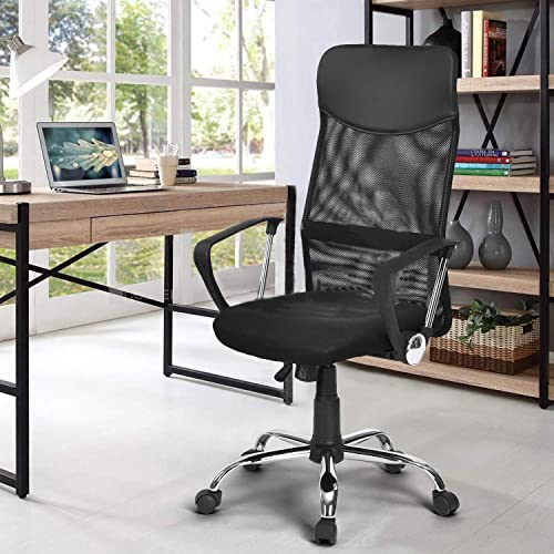 CozyCasa Office Desk Chair High Back Mesh Computer Chair Headrest Ergonomic Modern Executive Chairs Adjustable Stool Swivel Casters Black