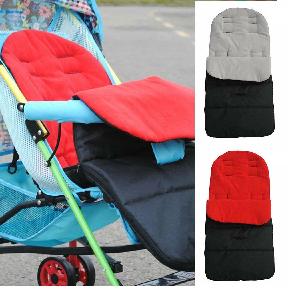 mit Fu/ßsack f/ür Kinderwagen mit weichem Fleece-Futter Universal-Fu/ßsack f/ür Kinderwagen f/ür Kinderwagen und Buggys