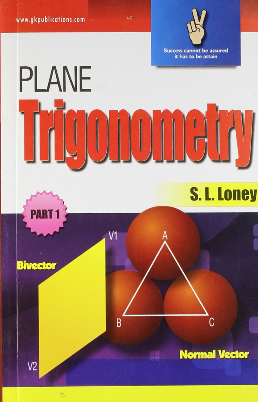 buy plane trigonometry part 1 book online at low prices in india