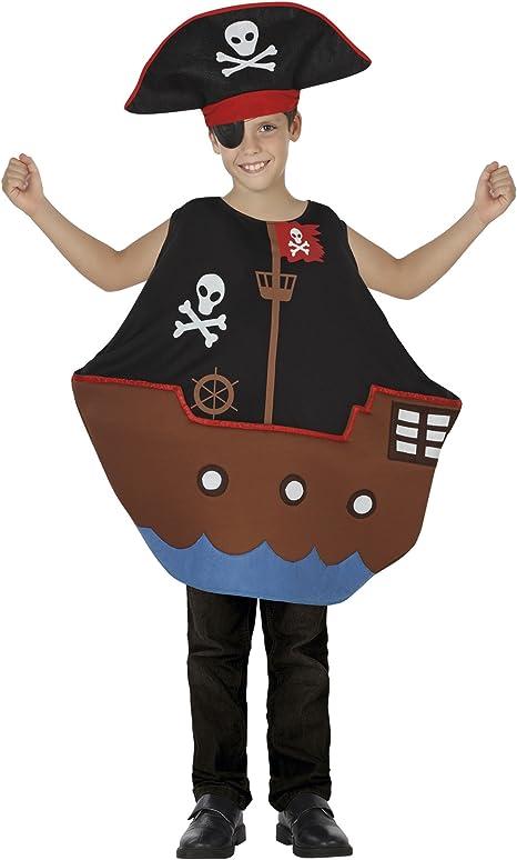 Atosa-26695 Disfraz Barco Pirata, color negro, 7 a 9 años (26695 ...