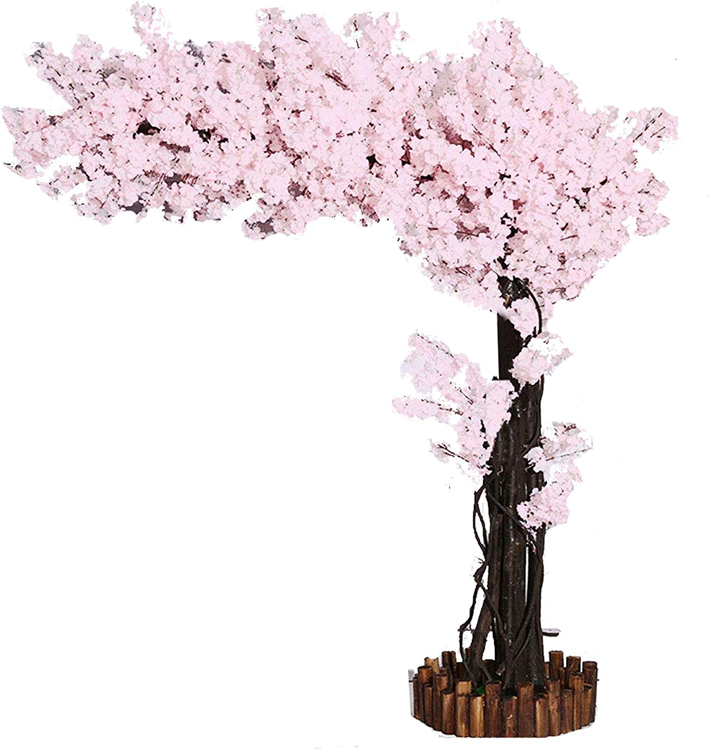 Amazon Com Artificial Cherry Blossom Trees Pure White Cherry Blossom Tree Arch Pink Fake Sakura Flowers Indoor Outdoor Home Office Party 7ft Tall 5 5ft Width Kitchen Dining