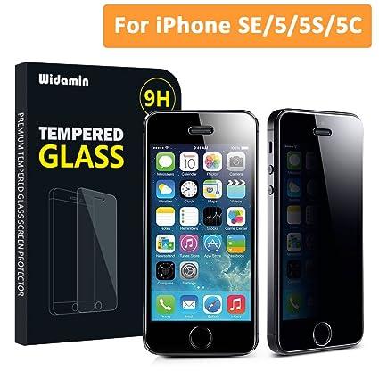 bfbb419f4c5 IPhone SE 5 5C 5S Película de Privacidad Widamin® Protector de Pantalla de  Vidrio Temperado