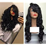 ATOZWIG Synthetic Body Wave Lace Front Wig Heat Resistant With Baby Hair Natural Looking for Black Women