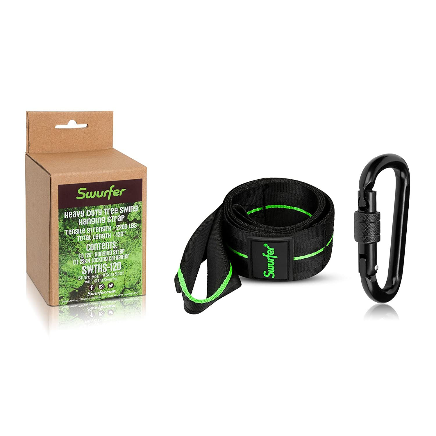 Amazoncom Swurfer 10Ft Tree Swing Strap Hanging Kit  Durable