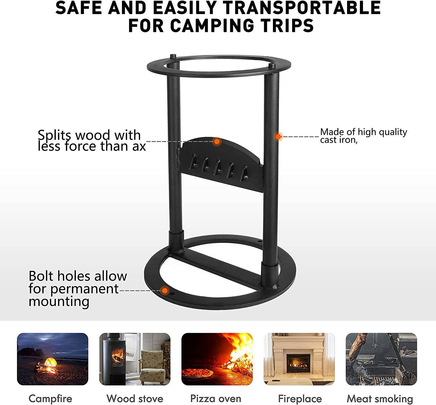 No More Axes Wood Kindling Splitter Safest Way to Cut Firewood No ...