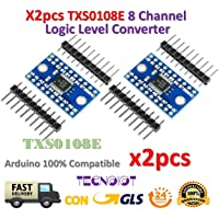 TECNOIOT 2pcs TXS0108E 8 Channel Logic Level Converter