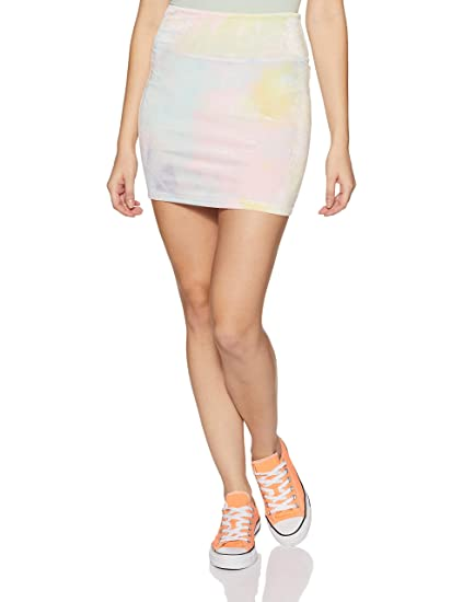 ef14f3325f Forever 21 Women's Tie-Dye Mini Skirt 88972, S, Blue/Pink/Yellow:  Amazon.in: Clothing & Accessories