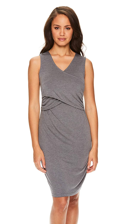 LAMAZE Intimates Womens Maternity Nursing Breastfeeding Sleeveless Nightgown Sleep Dress Shirt