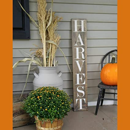 Amazoncom Marthafox Harvest Fall Wooden Rustic Plague Sign Welcome