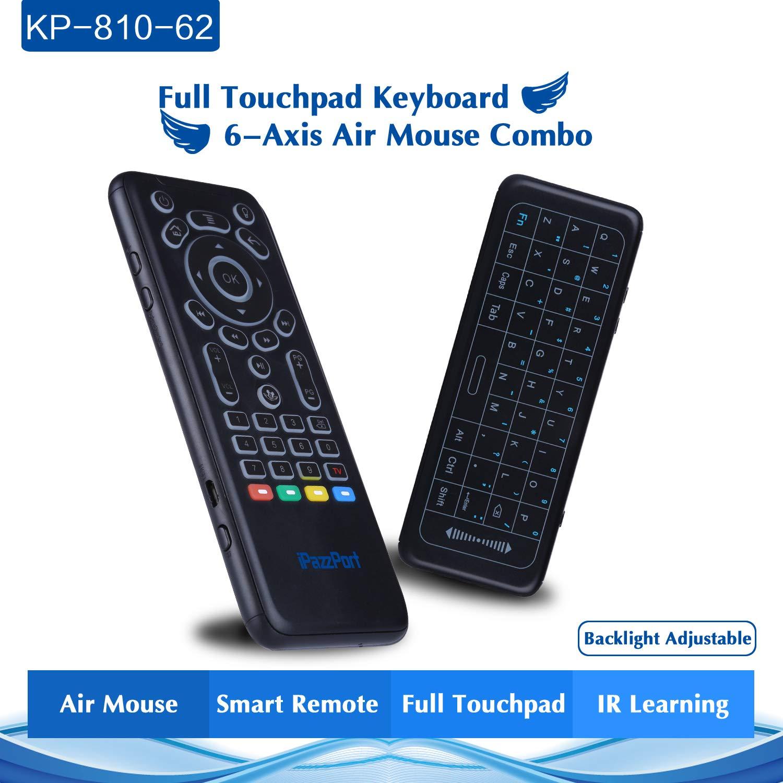 superpow Mini Teclado Inalámbrico con Touchpad 2.4GHz Mini Keyboard Teclado Ergonómico para Windows/Mac OS/Linux/Android/Google/Smart TV OS (Diseño ...