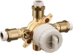 Moen U140VS M-CORE 3-Series 4 Port Tub and Shower Pre-Fabricated Mixing Valve with CPVC Connections and Stops, or Unfinished