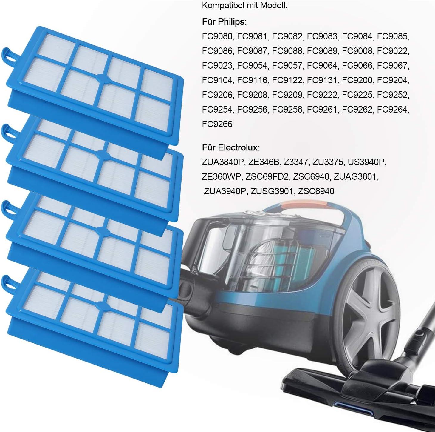 Poweka HEPA13 - Filtro para aspiradora Philips FC8038/01 AEG/Electrolux/Tornado/Volta (4 unidades): Amazon.es: Hogar