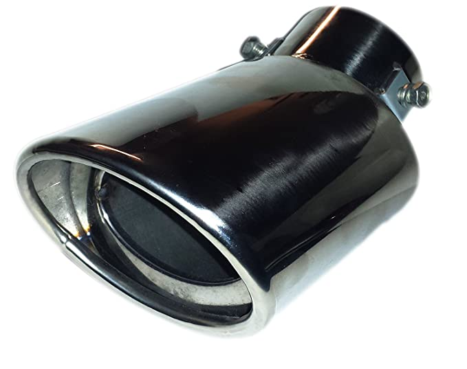 1 opinioni per Scarico cromato punta ovale punta 178mm facile da montare–vite/Clip in
