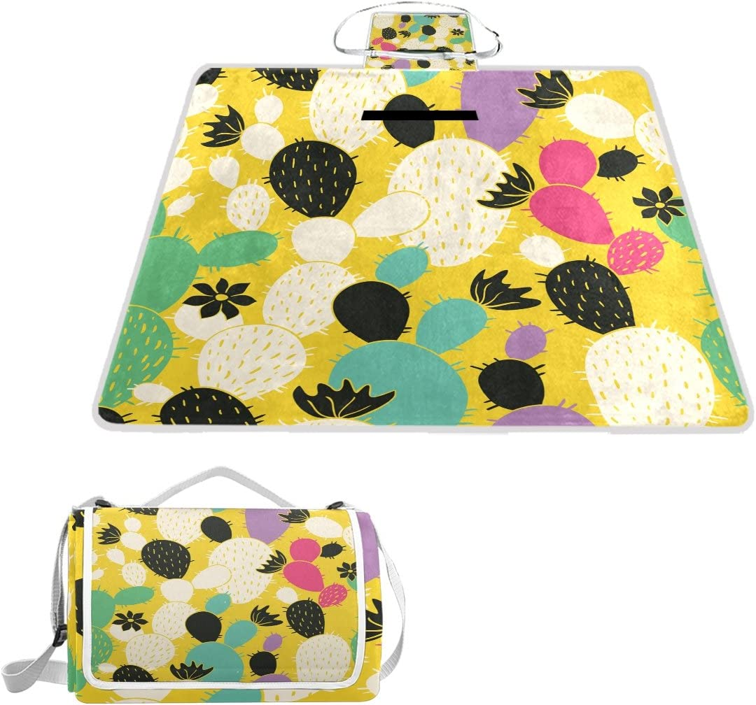 Abstract Turtle with Hummingbirds and Musical Notes Fantastic Digital Illustration Sand Proof Mat for Travel Multicolor Colorful Picnic Blanket 60 x 57
