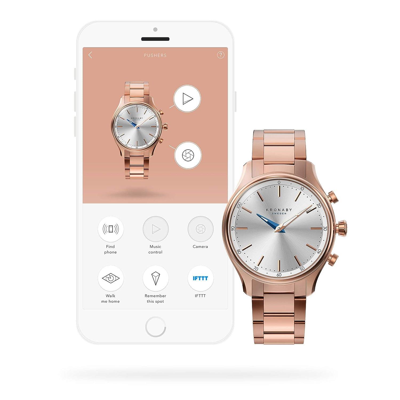 Reloj Unisex Kronaby Sekel A1000-2747 para Damas/Hombres, un Reloj Tradicional con Las capacidades de un Reloj Inteligente de 38 mm de diámetro ...