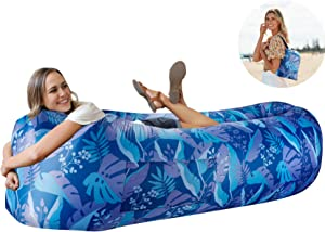 Wekapo Inflatable Lounger Air Sofa Hammock-Portable,Water Proof& Anti-Air Leaking Design-Ideal Couch for Backyard Lakeside Beach Traveling Camping Picnics & Music Festivals Camping Compression Sacks