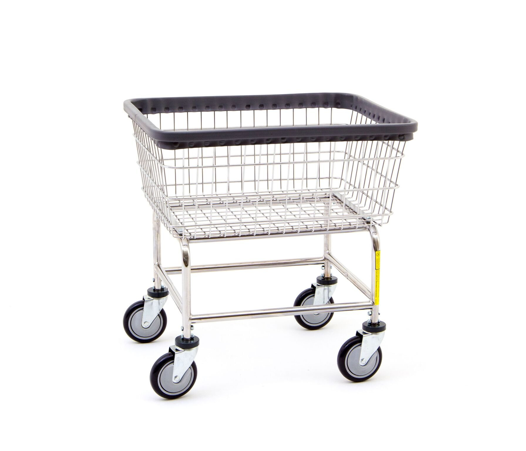 laundry cart on wheels r amp b wire 300g deluxe elevated wire frame metal 28944