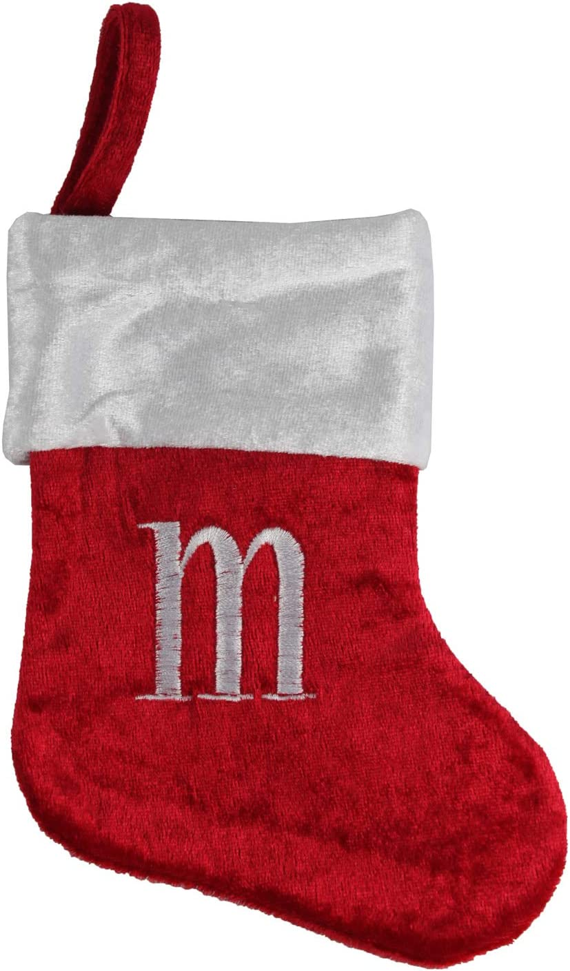 Happy Home Gifts Merry Brite Mini Monogram Stocking Letter m