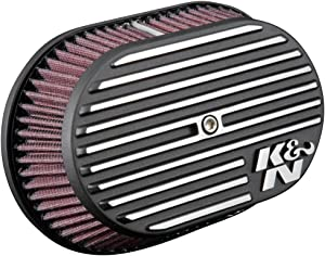 K&N Air Intake System: Air Cleaner Kit for Harley Davidson 2017 2018 2019 107 M8 Touring Models Street Glide Road King Fat Boy Freewheeler RK-3956