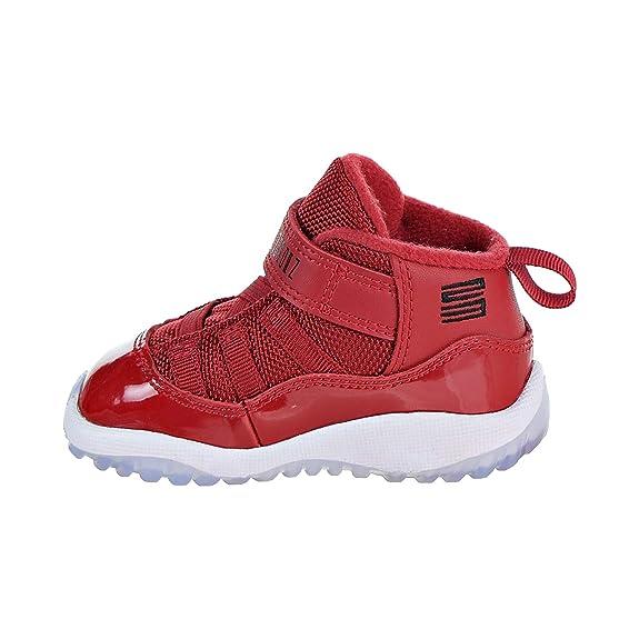 3bebe665773 NIKE 378040-623 Kids Toddler 11 Retro BT Jordan Gym Red Black White:  Amazon.co.uk: Shoes & Bags