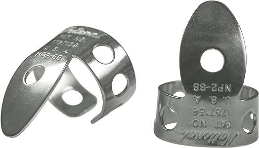 National NP-2S-4PK Finger Picks - Stainless Steel - 4 Pack