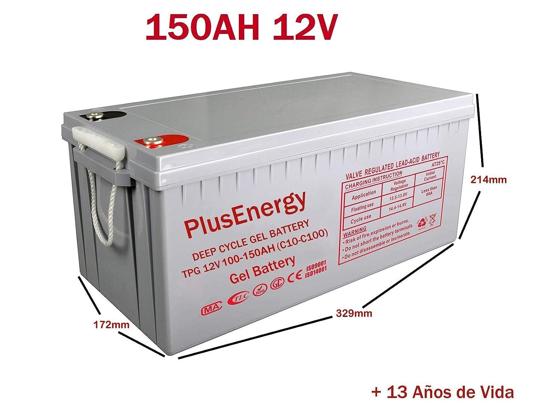 wccsolar.es Bateria Solar AGM Y Gel 12V PlusEnergy 150AH 250AH ...
