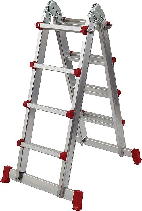 Homelux 825039 Escalera Multiuso Aluminio, 3+4 Peldaños, 8.5 kg: Amazon.es: Jardín