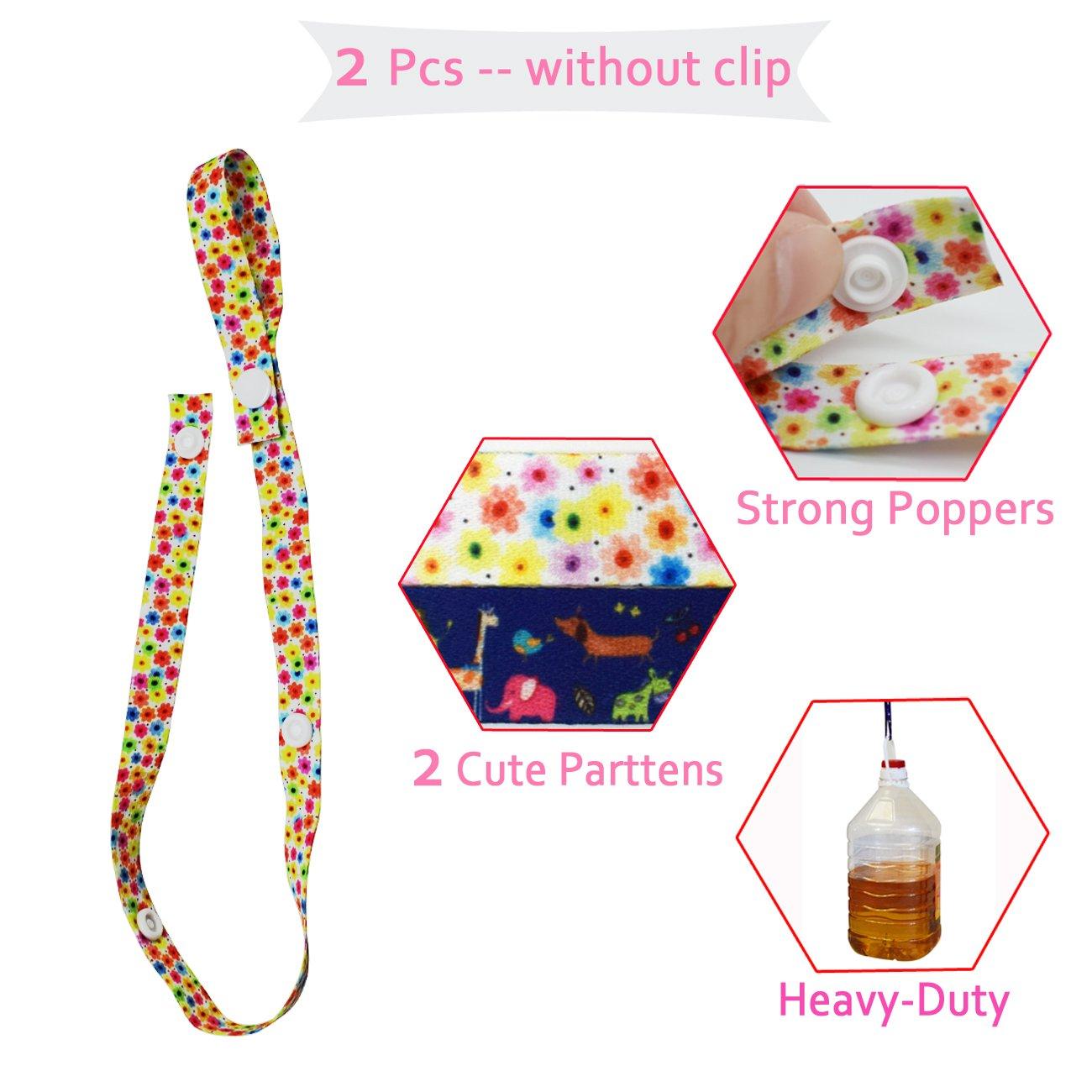 Chupetes De Clip Bebé, 4 Pack Cadenas Para Chupetes Baby Bottle Strap Nuevo Sippy Pal Anti Drop Baby Toys Clip Suspension, Hecha De Materia Segura, ...