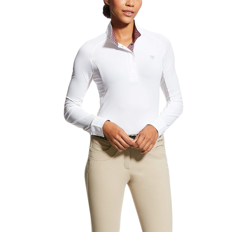 AriatレディースMarquis Ice Fil Showシャツ、ホワイト、ミディアム   B0798W3KJQ