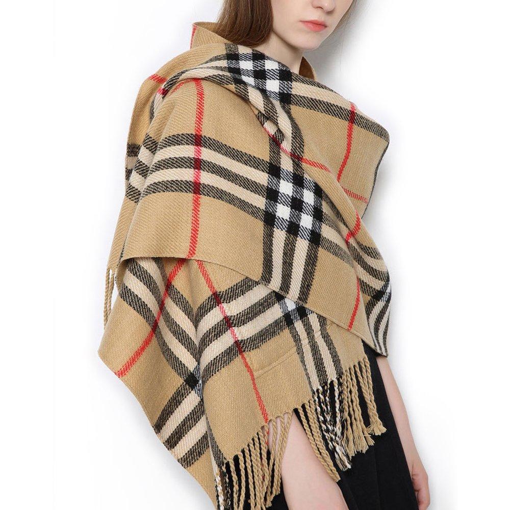 Tartan Écharpe avec poches pour femme Long Châle Grande classique élégant  style de Écosse toutes les. Agrandir l image ef60a228c54