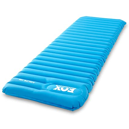 Fox Outfitters Airlite Sleeping Pad for Camping, Backpacking, Hiking. Fast Inflatable Air Tube Design with Built in Pump.