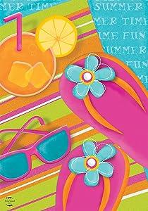 Briarwood Lane Pool Party Summer Garden Flag Float Sunglasses Flip Flops 12.5
