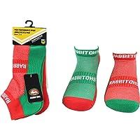 NRL Men's High Performance Ankle Socks Sth Sydney Rabbitohs 2pk