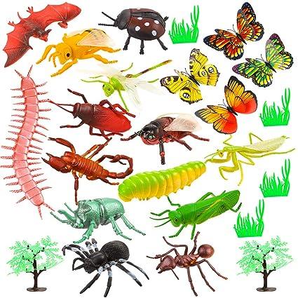 Auihiay 36 Pack surtido grandes figuras juguetes de plástico de insectos insectos insectos incluye