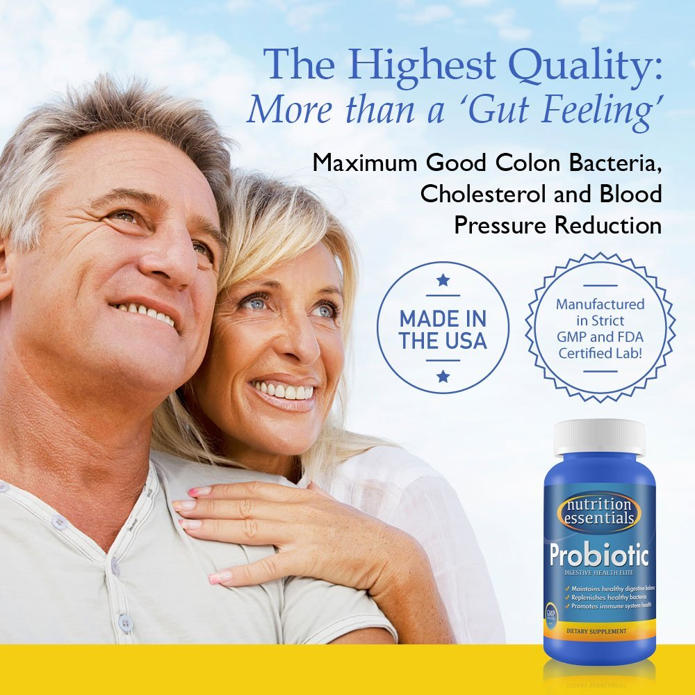 Nutrition Essentials #1 Rated Acidophilus Probiotic Digestive Health Supplement - Most CFU's per Bottle - (6 Pack of 60 Tablets) 100% Moneyback Guarantee (360 Tablets) by Nutrition Essentials (Image #3)