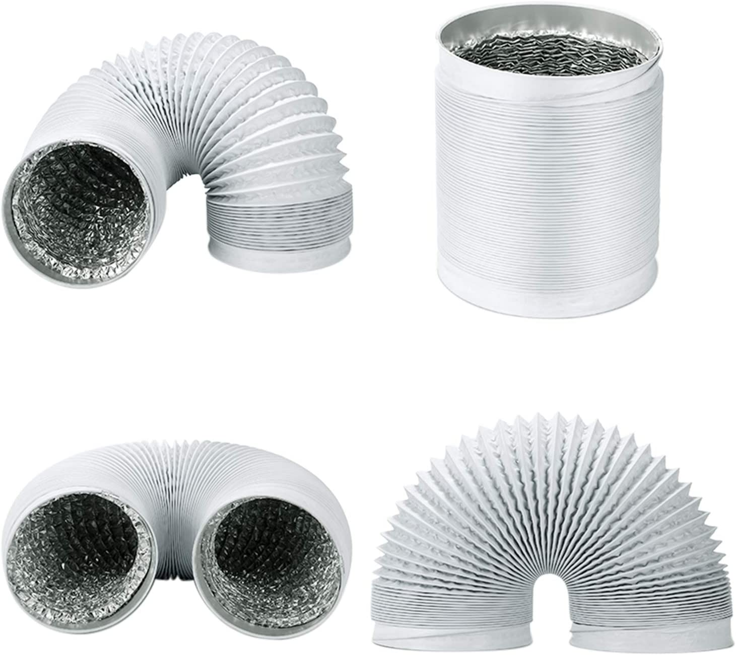 wei/ß OOPPEN 15,2 cm x 10 m PVC Runde Luftf/ührung Aluminium Flexibler L/üftungsschlauch 150 mm Durchmesser Bel/üftungsschlauch f/ür Abluftventilatoren//Hydrokultur etc