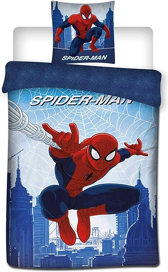 3D Marvel Spiderman Bettbezug-Set super weich Cartoon Marvel Spider-Man Mikrofaser Kinder-Bettw/äsche-Set f/ür Jungen und M/ädchen A,135 x 200 cm farbbest/ändig