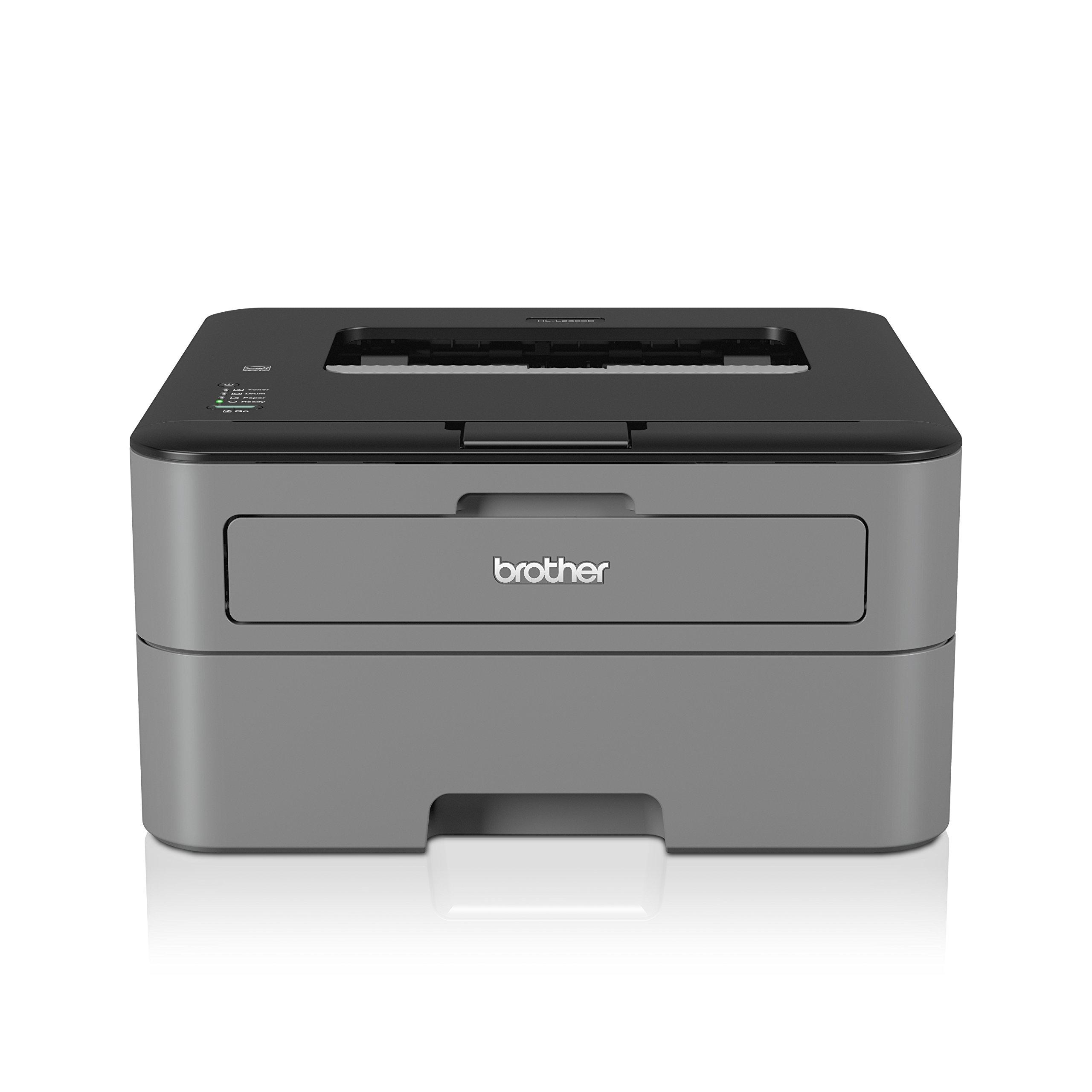 Brother HL-L2300D - Impresora láser (2400 x 6000 dpi, b/n 26 ppm), color gris