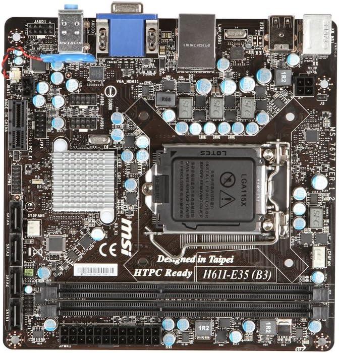 Intel BLKDH77DF LGA1155// Intel H77// DDR3// SATA3/&USB3.0// A/&GbE// Mini ITX Motherboard
