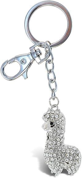 Llama bubblegum keychain bag clip