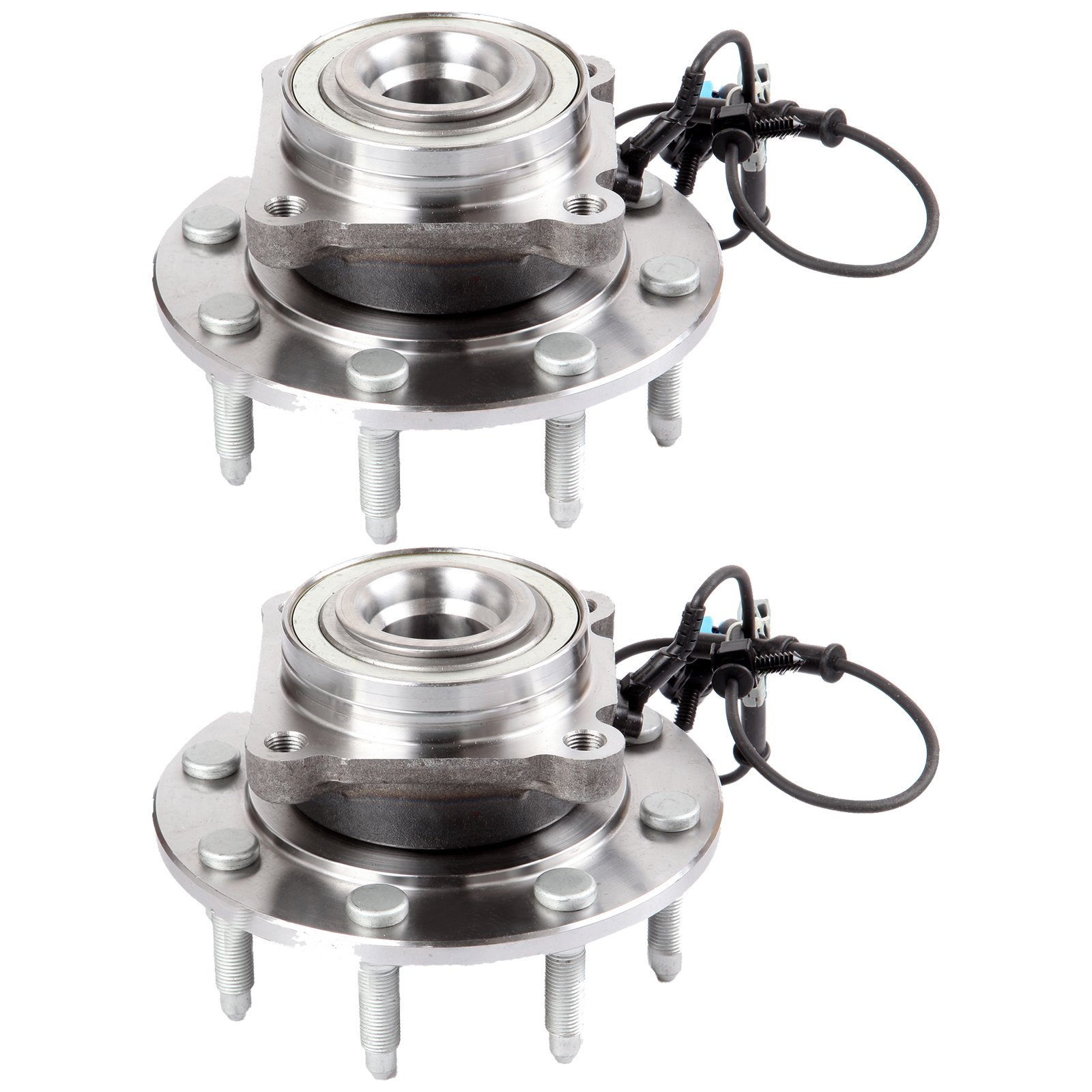 Scitoo Both (2) 515098 New Complete Front Wheel Hub Bearing Assembly fit 2007 2008 2009 Chevy Silverado GMC Sierra 8 Lugs w/ABS