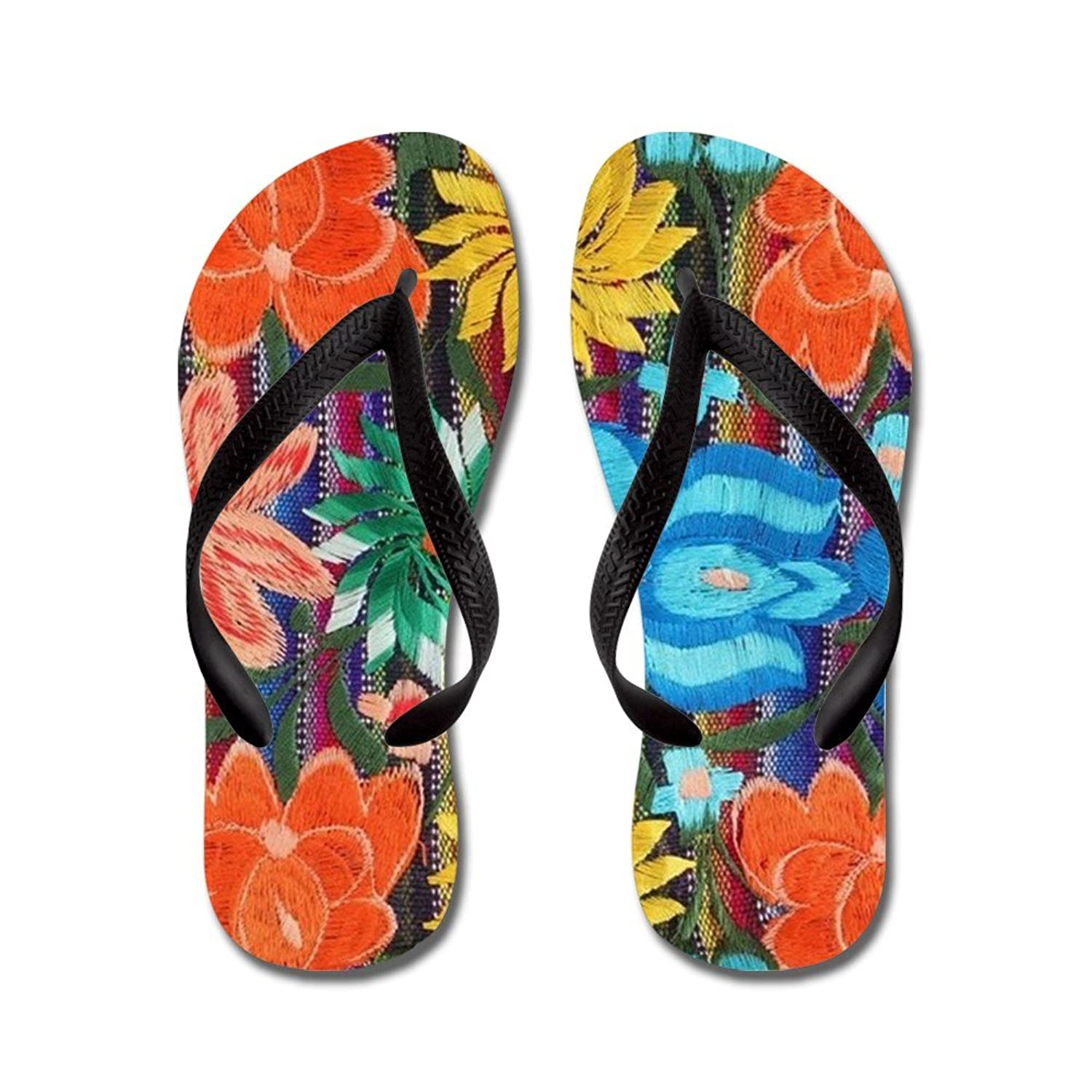 7cb651084ac2 30%OFF CafePress - Mexican Flower Embroidery - Flip Flops