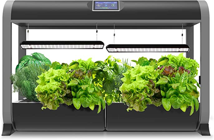Amazon Com Aerogarden Farm 24basic Indoor Hydroponic Garden W Heirloom Salad Greens Seed Kit Black Garden Outdoor