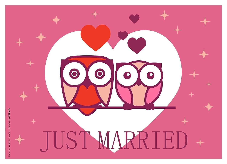 'Globo vuelo Tarjetas boda 'Just Married 100unidades/muy ligera de tarjetas de vuelo para amplio vuelo/perforadas impermeable Globos Globos Corazón Globo Tarjetas boda Parte vorlage Buena deseos