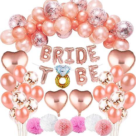 Team Bride Hen Party Hen Night Pink White Rose Gold Foil Helium Balloon