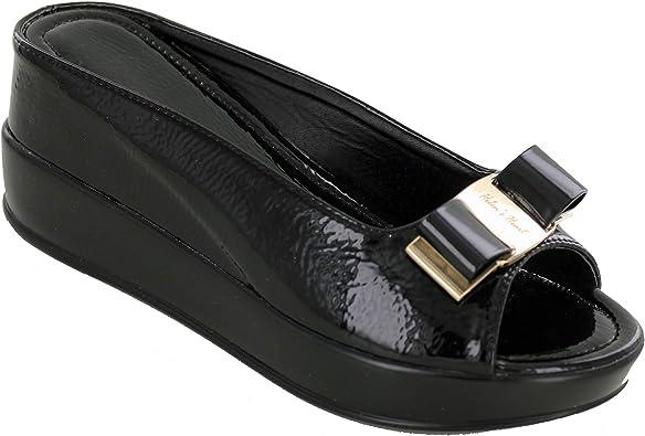 8127-9 Helens Heart Hidden Wedge Slide Causal Sandal with Bow