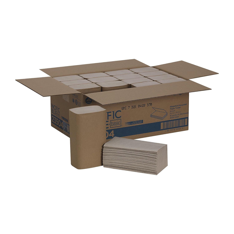 ジョージアパシフィック23504のEnvision 1フォールド紙Towel- 10-1 / 4×9-1 / 4 Brown- 250 / PACK- 16 /カートン B0040ZHUVI