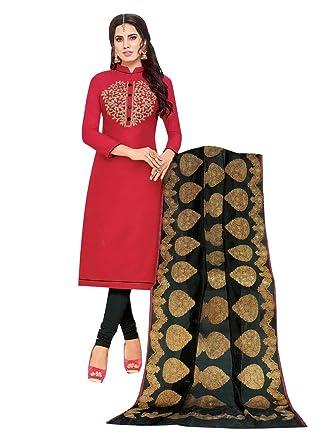 dc6776442c Readymade Formal Silk Embroidered Salwar Kameez with Banarasi Silk Dupatta  Indian Dress Salwar Suit Pakistani at Amazon Women's Clothing store: