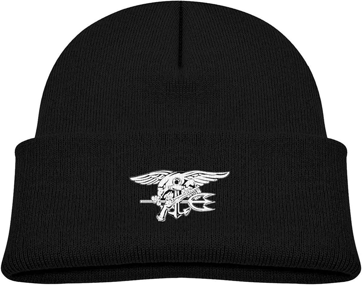 Yuanmeiju Navy Seal Logo Toddlers Beanie Cuffed Knit Hat Cotton Skull cap