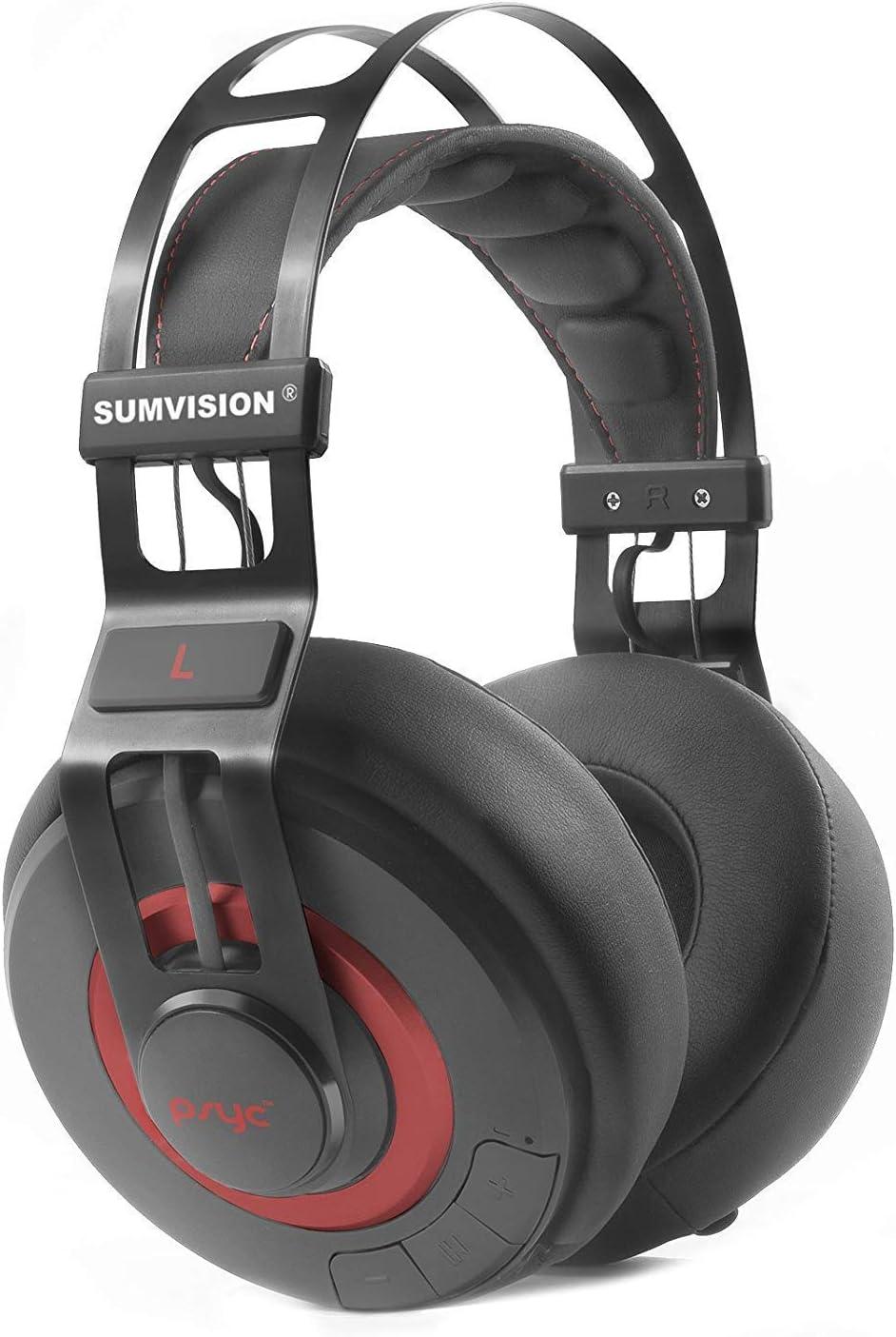 Sumvision Psyc Wave ZX inalámbrico con Bluetooth estéreo auriculares de diadema con micrófono construido en micrófono Bluetooth 4 aislamiento de ruido para iPhone iPad Samsung HTC Smartphones Tablets